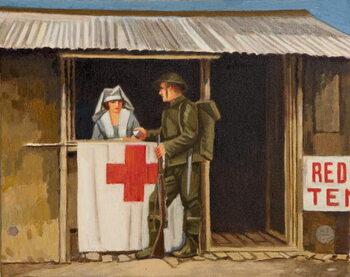 Soldier and Nurse Canvas Print