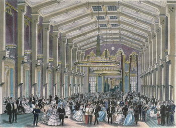 Canvas Print Sophien-Bad-Saal, a court ball in the Hofburg Palace, Vienna