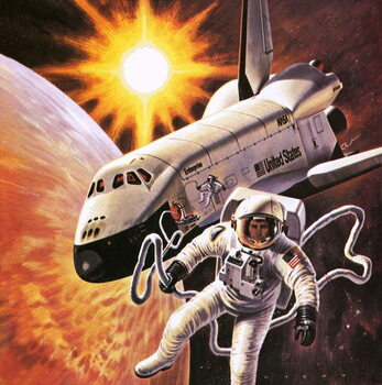 Space suit, as imagined in 1977 Canvas Print