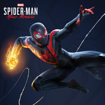 Canvas Print Spider-Man Miles Morales - Electric Fist Swing