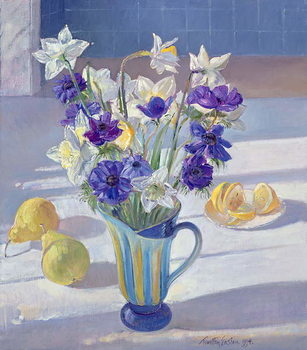 Canvas Print Spring Flowers and Lemons, 1994