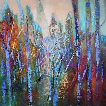 Springtime in the avenue Canvas Print