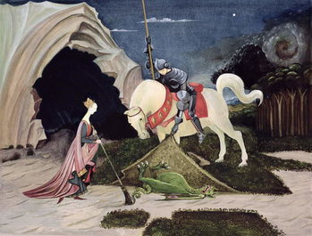 St. George and the Dragon, Five Minutes Later Canvas Print