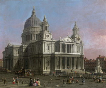 St. Paul's Cathedral, 1754 Canvas Print