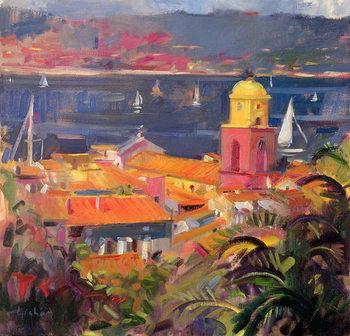 St Tropez Sailing, 2002 Canvas Print