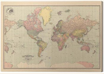 Canvas Print Stanfords - New Library Chart of the World