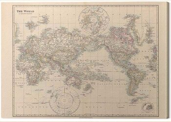 Canvas Print Stanfords - Pacific-Centred World Map