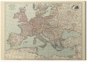 Canvas Print Stanfords Tourists - Map of Europe