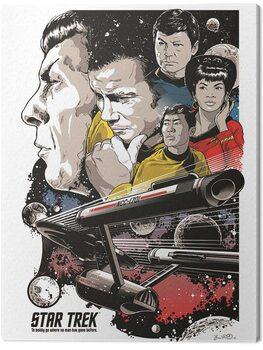 Canvas Print Star Trek - Boldly Go - 50th Anniversary