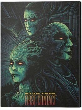 Canvas Print Star Trek - First Contact - 50th Anniversary
