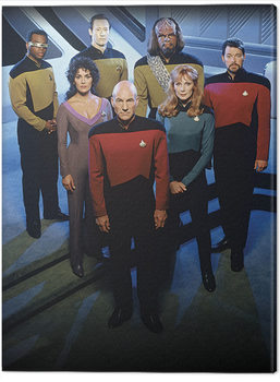 Canvas Print Star Trek: The Next Generation - Enterprise Officers