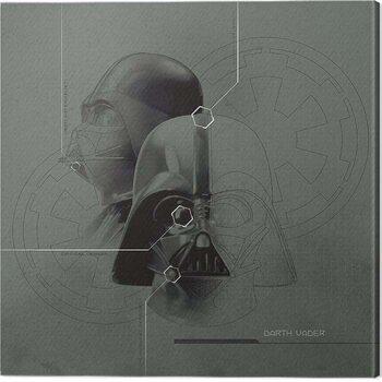 Canvas Print Star Wars - Darth Vader Diagram