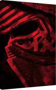Canvas Print Star Wars Episode VII: The Force Awakens - Kylo Ren Mask