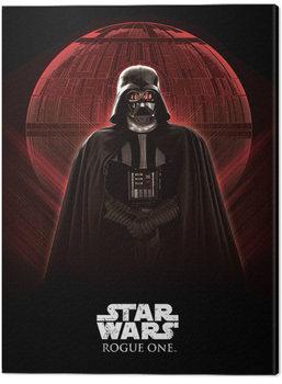 Canvas Print Star Wars: Rogue One - Darth Vader & Death Star