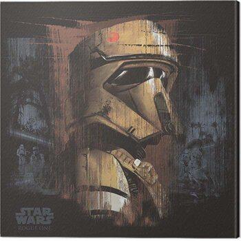 Canvas Print Star Wars: Rogue One - Scarif Trooper Black
