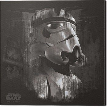Canvas Print Star Wars: Rogue One - Stormtrooper Trooper Black