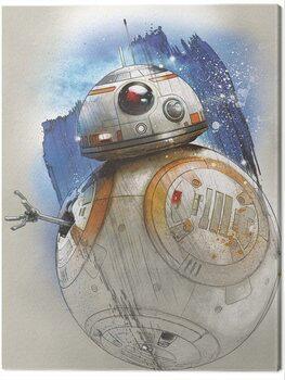 Canvas Print Star Wars The Last Jedi - BB - 8 Brushstroke