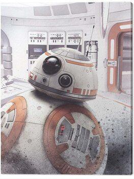 Canvas Print Star Wars The Last Jedi - BB - 8 Peek