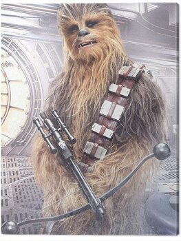 Canvas Print Star Wars The Last Jedi - Chewbacca Bowcaster