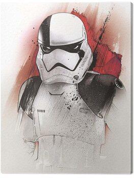 Canvas Print Star Wars The Last Jedi - Executioner Trooper Brushstroke