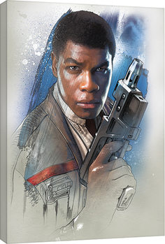 Star Wars The Last Jedi - Finn Brushstroke Canvas Print