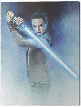 Canvas Print Star Wars The Last Jedi - Rey Lightsaber Guard
