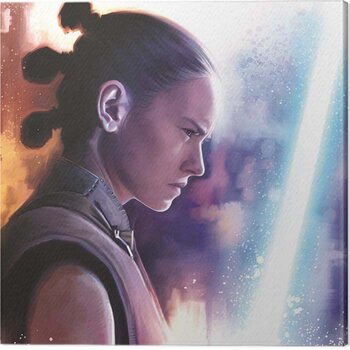 Canvas Print Star Wars The Last Jedi - Rey Lightsaber Paint