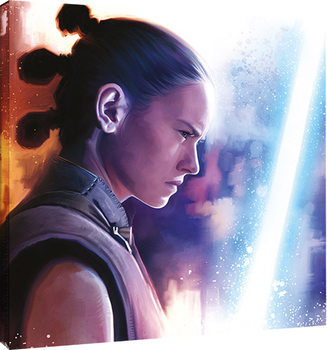 Star Wars The Last Jedi - Rey Lightsaber Paint Canvas Print
