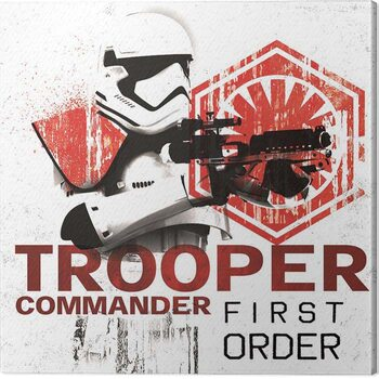 Canvas Print Star Wars The Last Jedi - Tooper Commander First Order