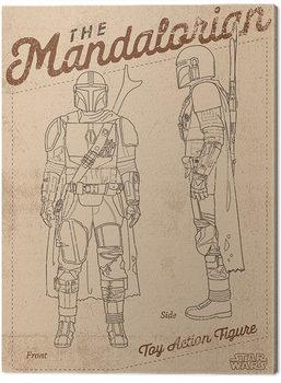 Star Wars: The Mandalorian - Action Figure Canvas Print