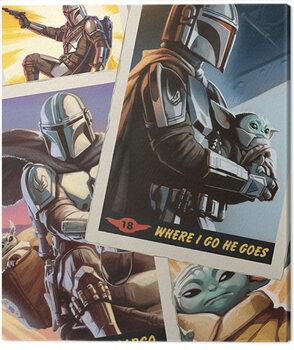 Canvas Print Star Wars: The Mandalorian - Cards