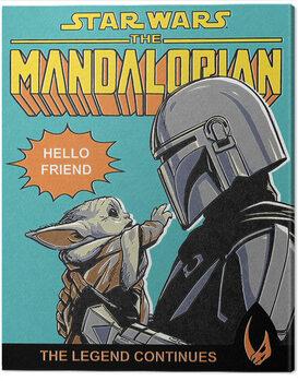 Canvas Print Star Wars: The Mandalorian - Hello Friend