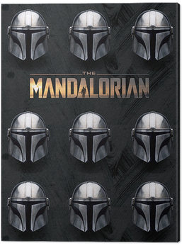 Star Wars: The Mandalorian - Helmets Canvas Print