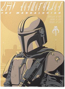 Canvas Print Star Wars: The Mandalorian - Illustration