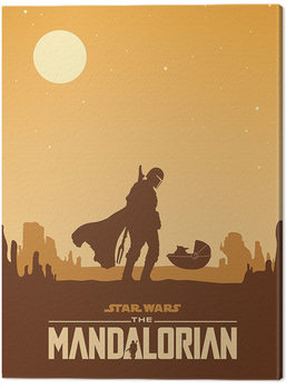 Star Wars: The Mandalorian - Meeting Canvas Print