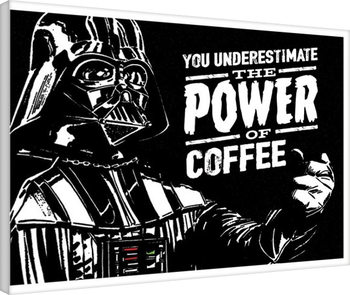 Canvas Print Star Wars - The Power Of Coffee