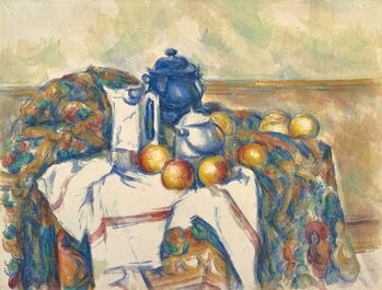 Canvas Print Still Life with Blue Pot