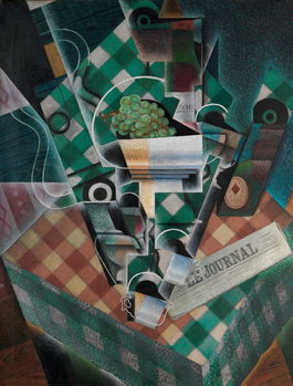 Still Life with Checked Tablecloth, 1915 Canvas Print