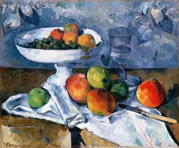 Canvas Print Still Life with Fruit Dish, 1879-80