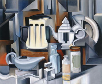 Canvas Print Still Life with Teapots