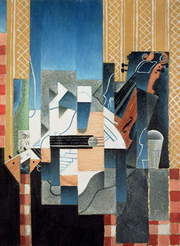 Still Life with Violin and Guitar, 1913 Canvas Print