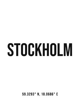 Canvas Print Stockholm simple coordinates