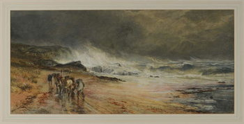 Storm on the Firth, 1874 Canvas Print