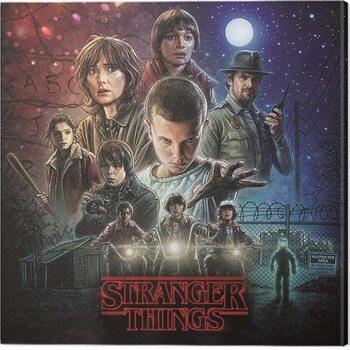 Canvas Print Stranger Things - On Sheet