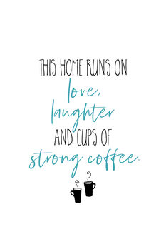Canvas Print Strong Coffee