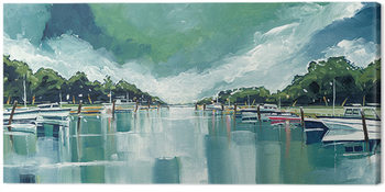 Stuart Roy - River Mornings and Angry Clouds Canvas Print