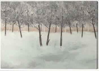 Canvas Print Stuart Roy - Silver Trees on White
