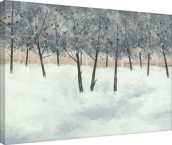Stuart Roy - Silver Trees on White Canvas Print