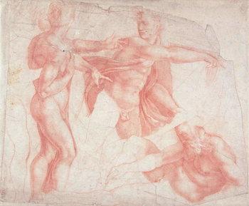 Studies of Male Nudes Canvas Print
