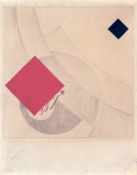 Study for 'This is the end' from the 'Story of Two Squares', 1920 Canvas Print